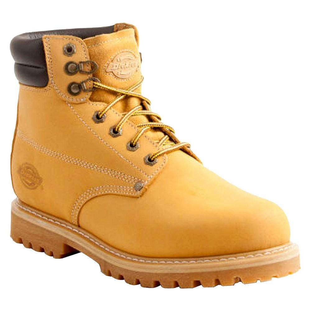 Mens Dickies Raider Genuine Leather Steel Toe Work Boots - Wheat 10.5, Yellow