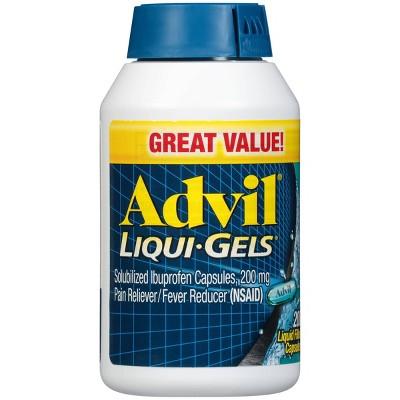 Advil® Liqui-Gels Pain Reliever/Fever Reducer Liquid Filled Capsule, 200mg Ibuprofen - 200ct