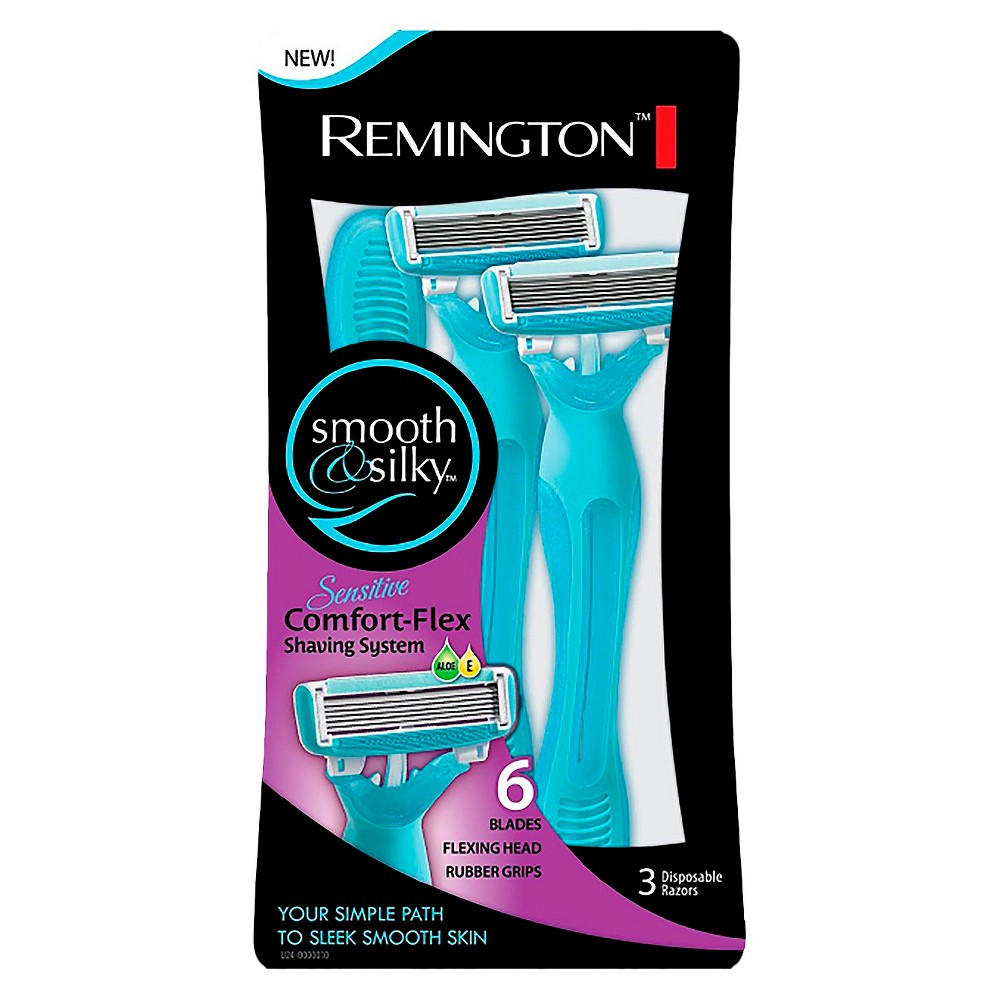 Remington Womens Smooth and Silky 6 Blade Shaver - 3 Pack
