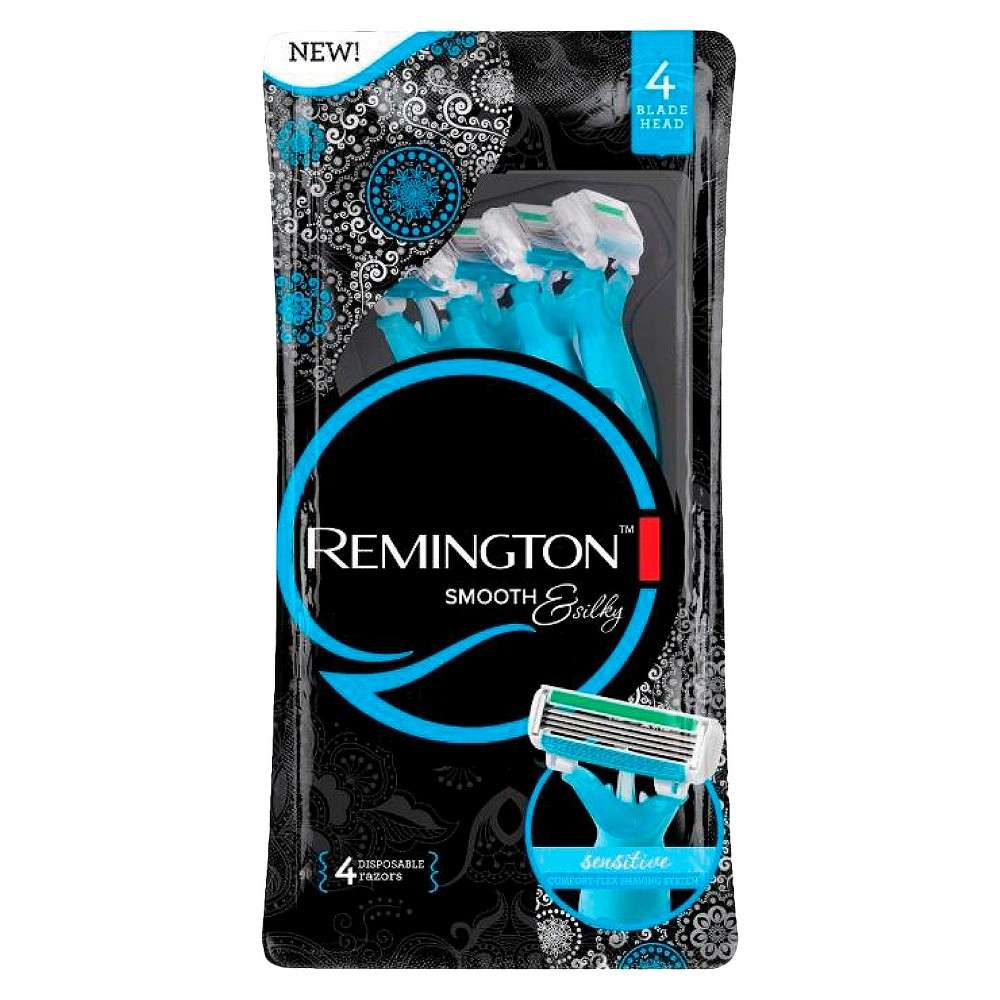 Remington Womens Smooth and Silky 4 Blade shaver - 4 pack