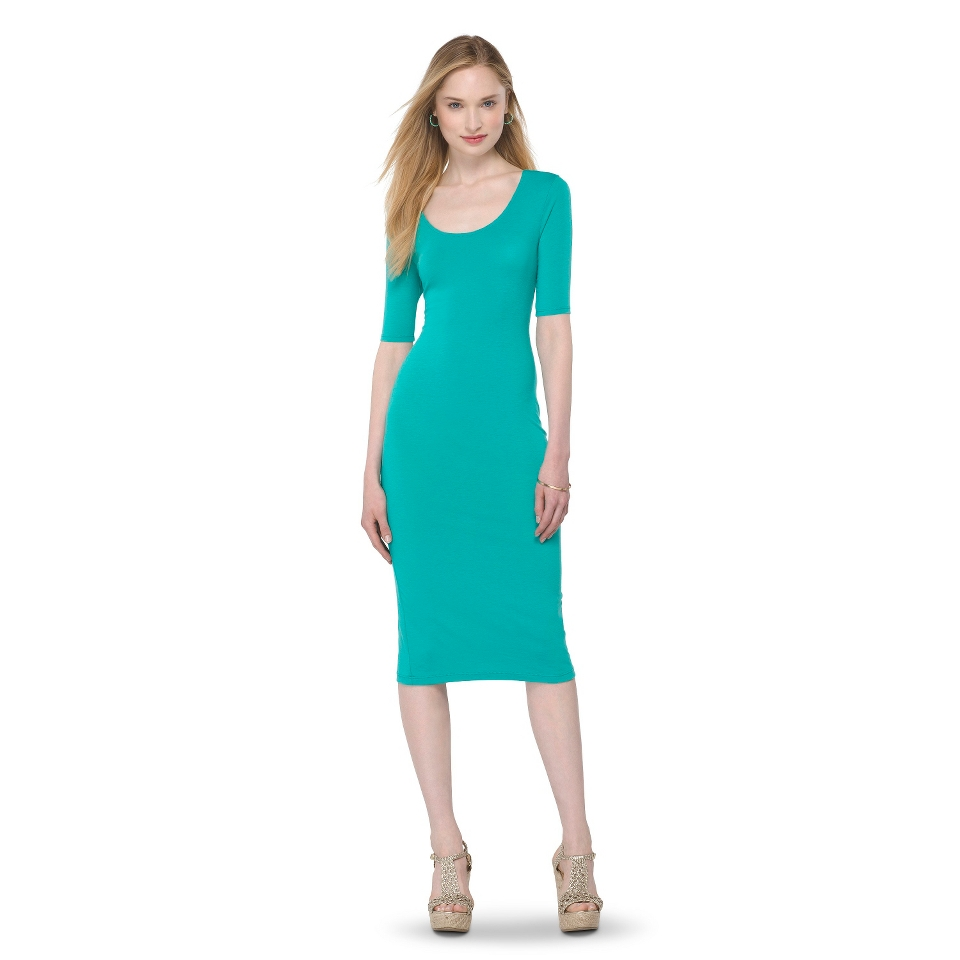 Mossimo Supply Co. Juniors Midi Dress   Biscayne Turquoise M(7 9)