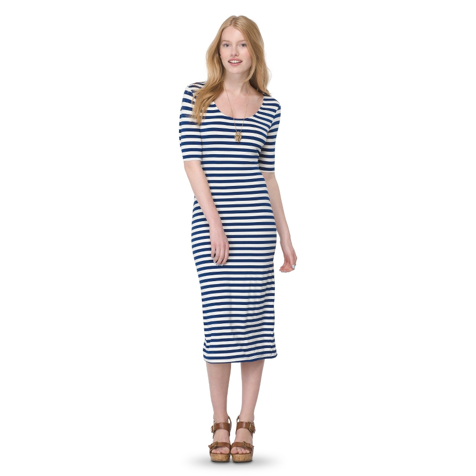 Mossimo Supply Co. Juniors Printed Midi Dress   Nightfall Blue XS(1)