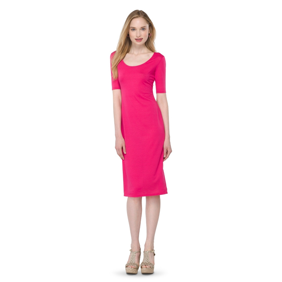 Mossimo Supply Co. Juniors Midi Dress   Fuchsia XS(1)