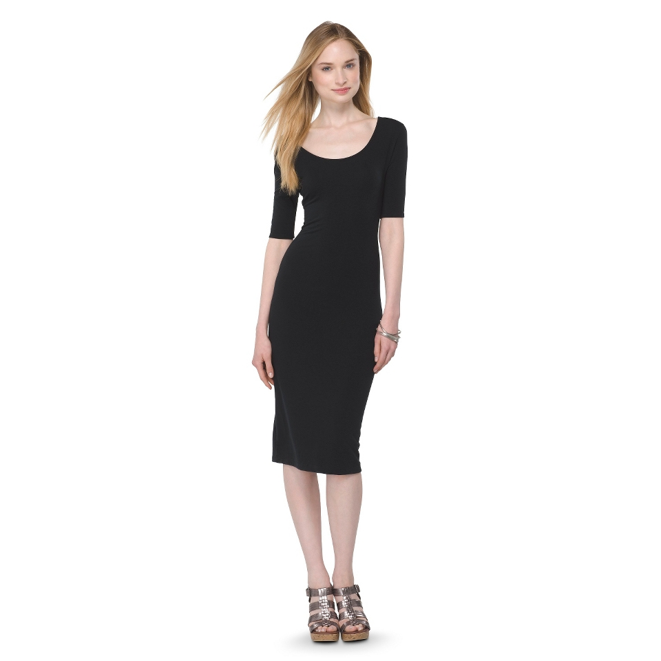Mossimo Supply Co. Juniors Midi Dress   Black M(7 9)