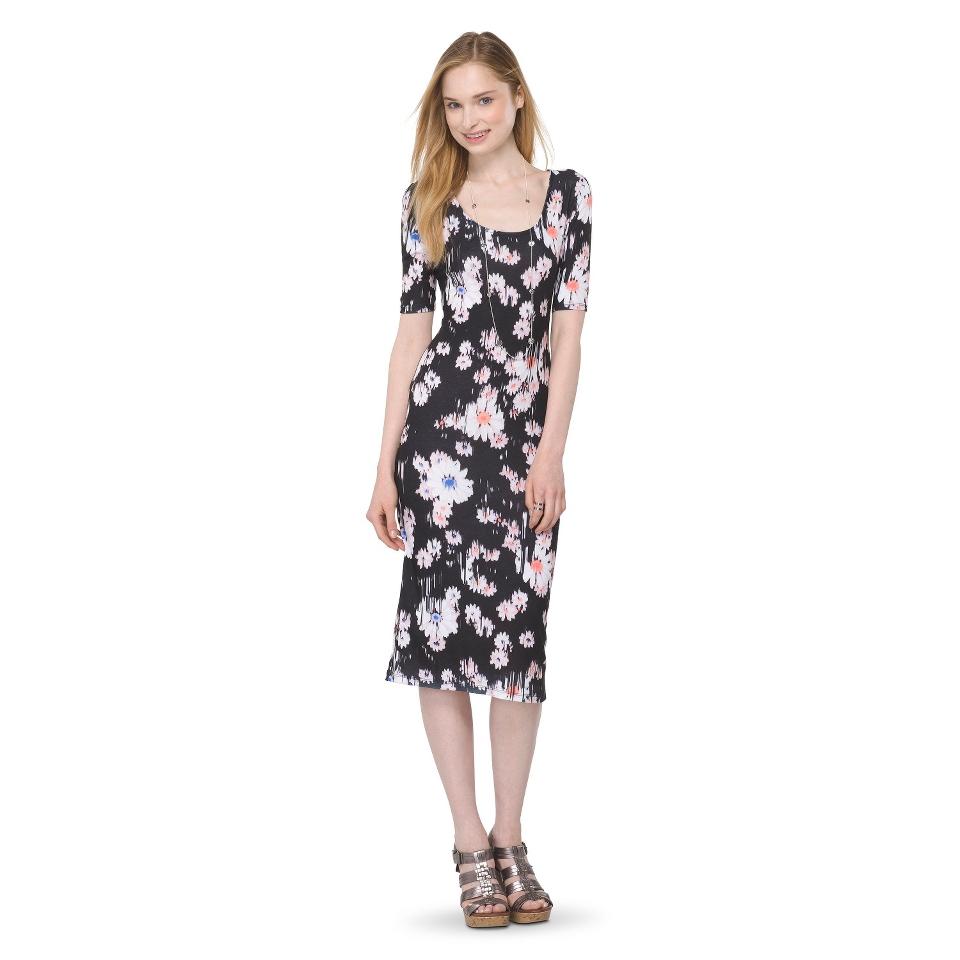 Mossimo Supply Co. Juniors Printed Midi Dress   Broken Floral XS(1)