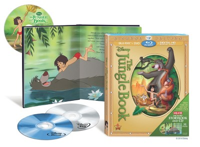 The Jungle Book: Diamond Edition (Blu-ray/DVD/Digital Copy)- Only at Target