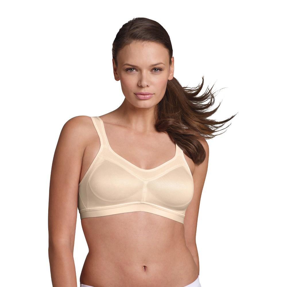 Playtex 18 Hour Womens Active Lifestyle Wirefree Bra 4159 Light Beige, Size: 42C