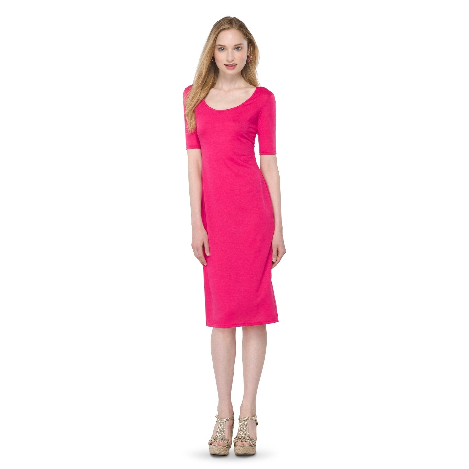 Mossimo Supply Co. Juniors Midi Dress   Fuchsia M(7 9)