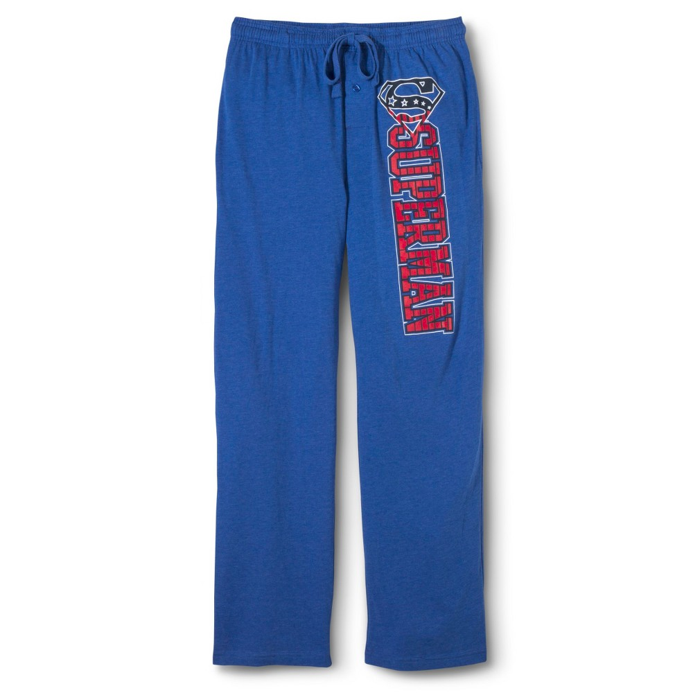 Mens Superman Sleep Pants - Royal Blue L