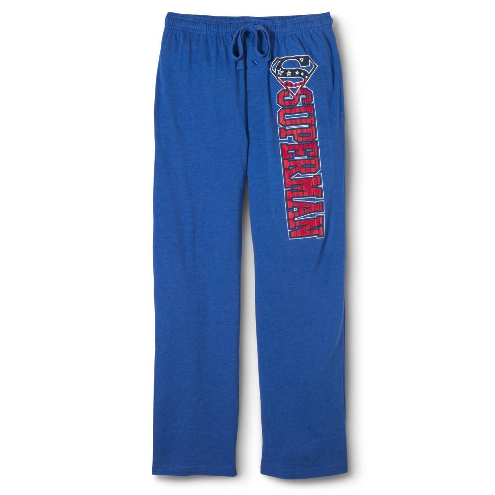Mens Superman Sleep Pants - Royal Blue M