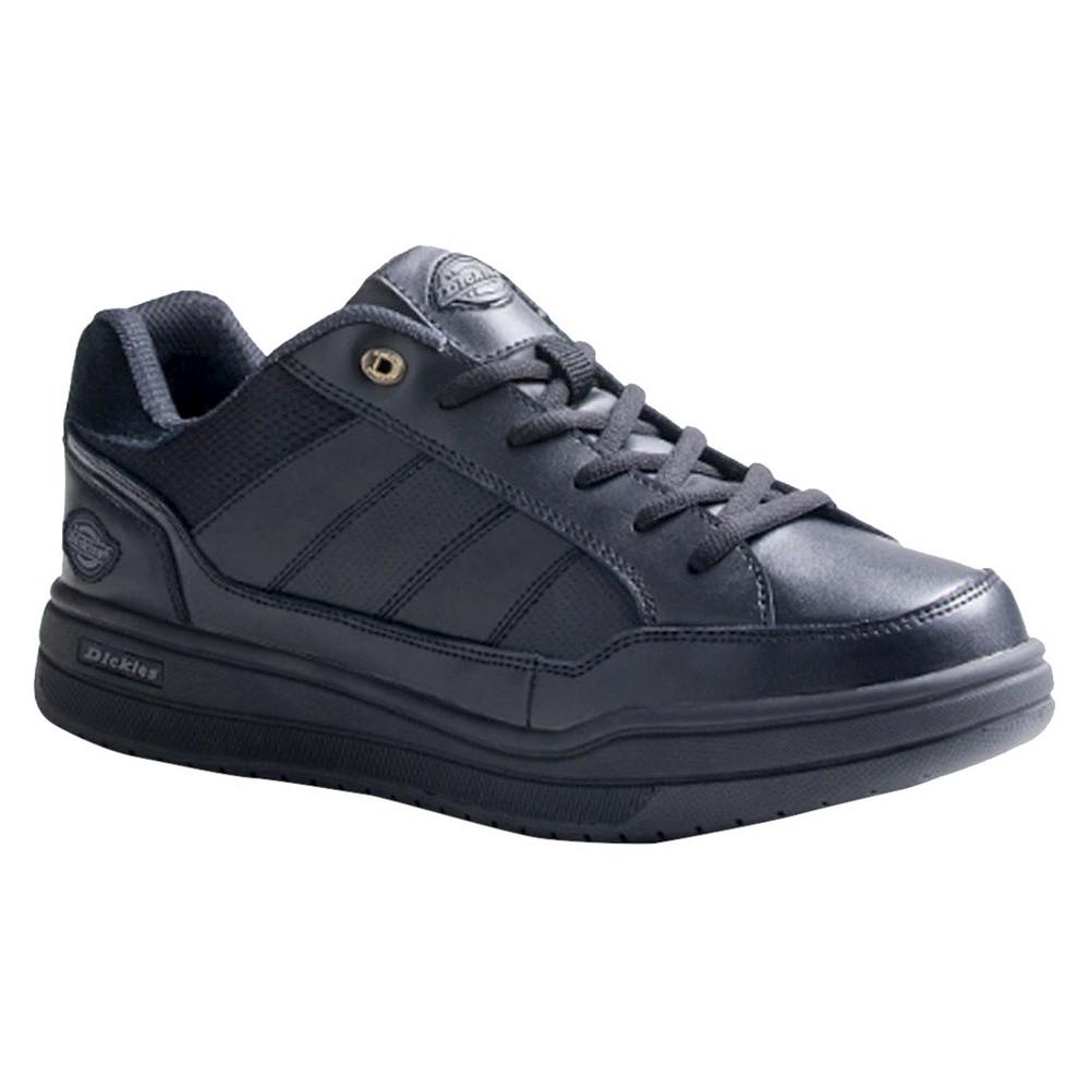 Mens Dickies Athletic Skate Genuine Leather Slip Resistant Sneakers - Black 6