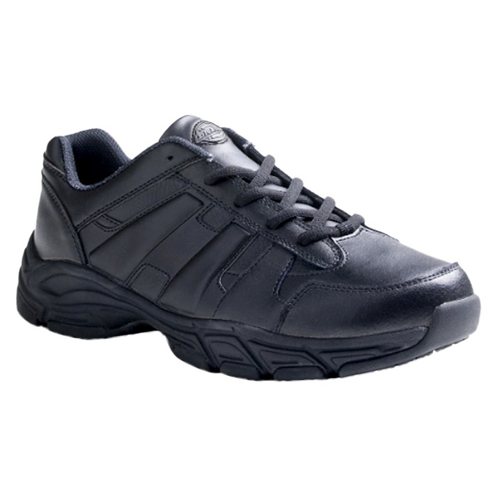 Mens Dickies Athletic Lace Genuine Leather Slip Resistant Sneakers - Black 7