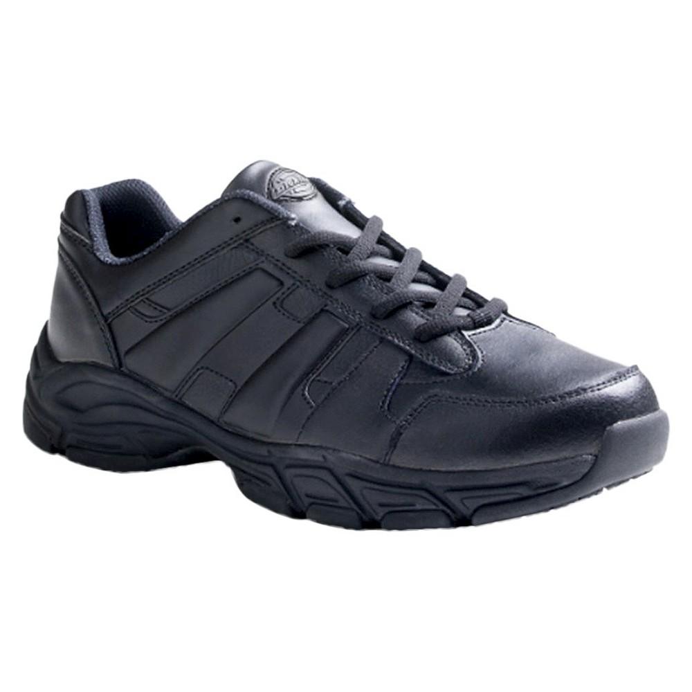 Mens Dickies Athletic Lace Genuine Leather Slip Resistant Sneakers - Black 7.5