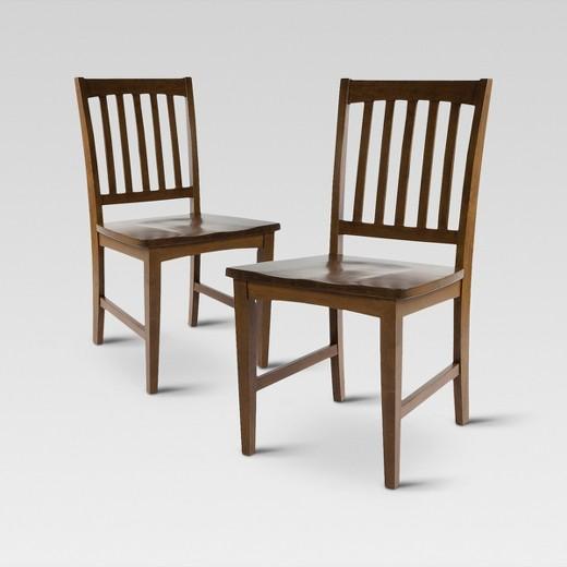 Slat Back Dining Chair Set Of 2