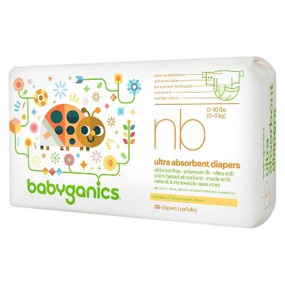 Babyganics Ultra Absorbent Disposable Diapers - Newborn (36 ct)