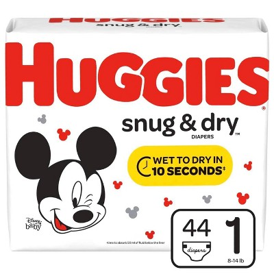 Huggies® Snug & Dry Diapers, Size 1, 44ct