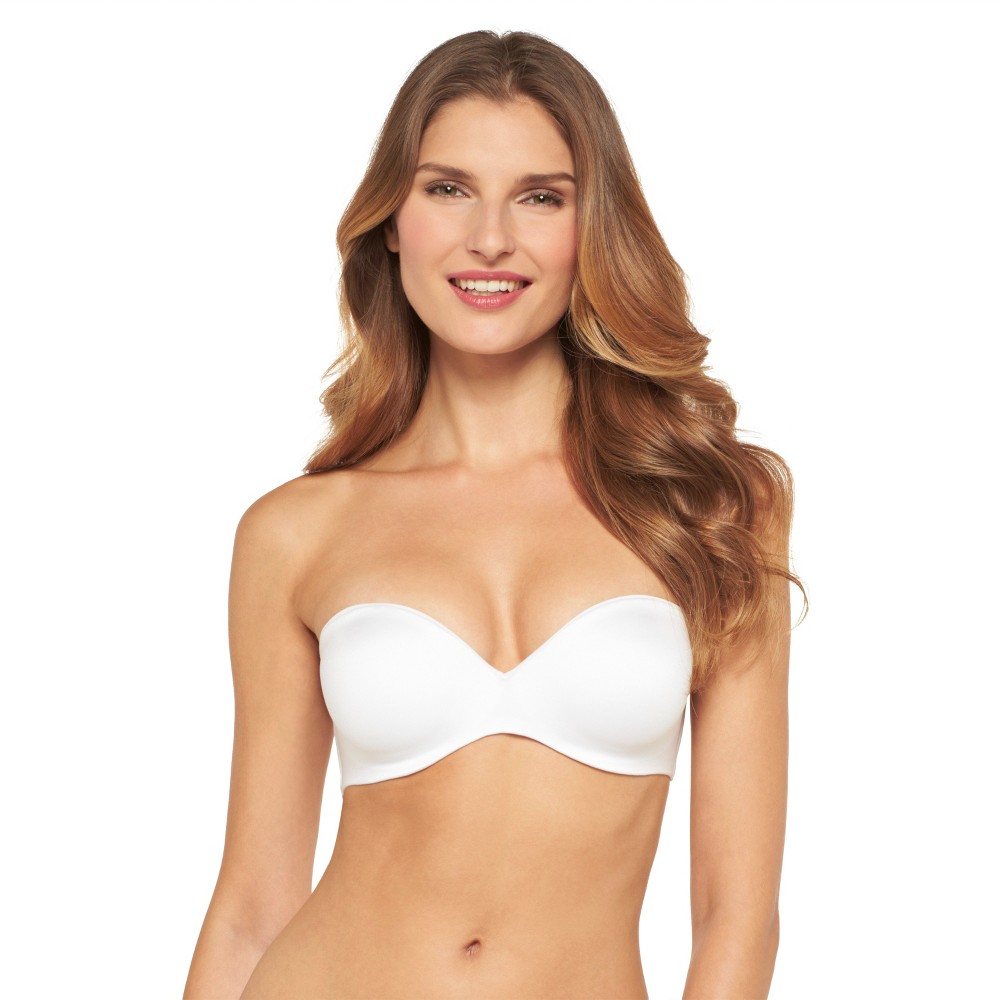 Maidenform Self Expressions Womenss Comfort Convertible Strapless Plunge Bra - White 34D