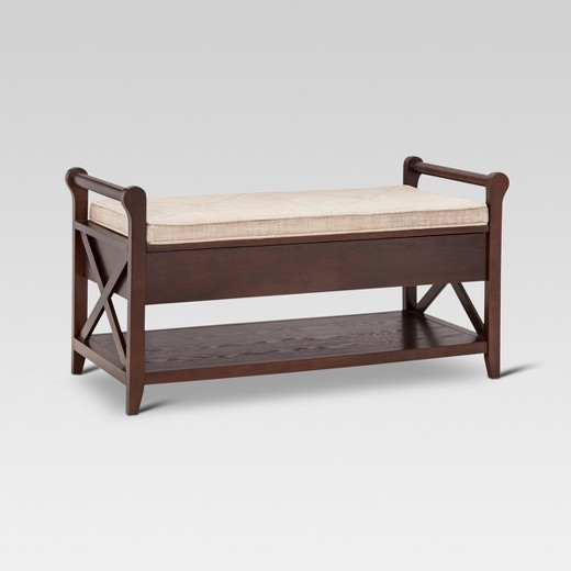 Vincent Entryway Bench Wood Threshold Target
