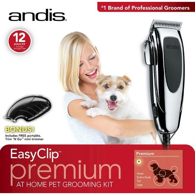 Andis EasyClip Premium Home Pet Grooming Clipper Kit