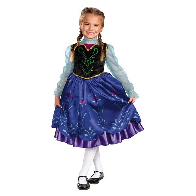 Frozen Girls' Anna Deluxe Costume Medium (7-8)