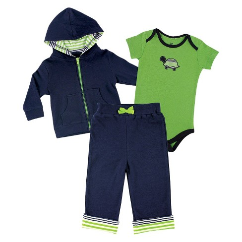 Yoga Sprout™ Baby Boys' Bodysuit and Pants Set - Navy/Green - image 1 of 1