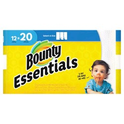 Bounty Basic Select-a-Size Paper Towels - 12 Mega Rolls