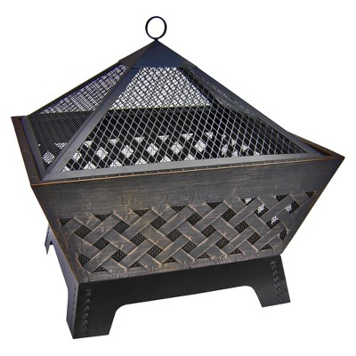 Landmann Barrone 26  Firepit with Cover in Antique Bronze
