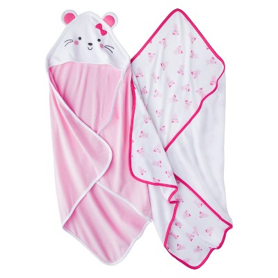 Just One You™ Made by Carter's® Baby Girls' 2pk Mouse Bath Towel Set - Pink