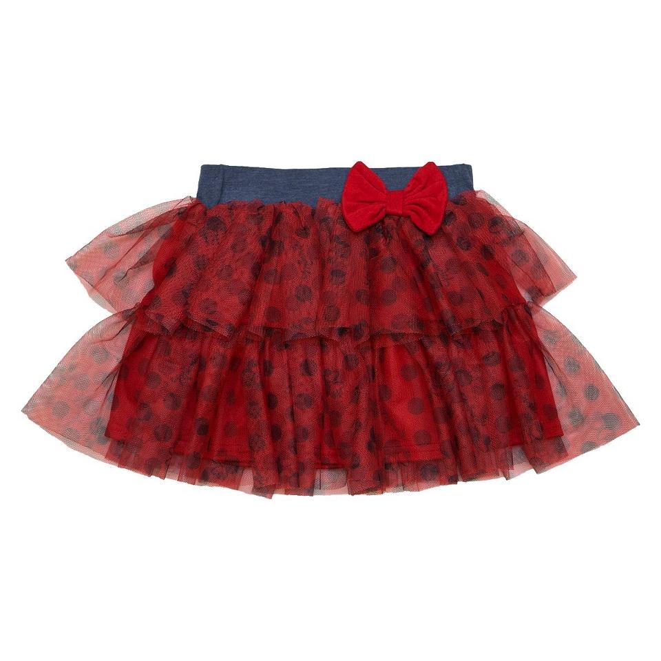 Disney Minnie Mouse Infant Toddler Girls Tutu Skirt   Red 2T