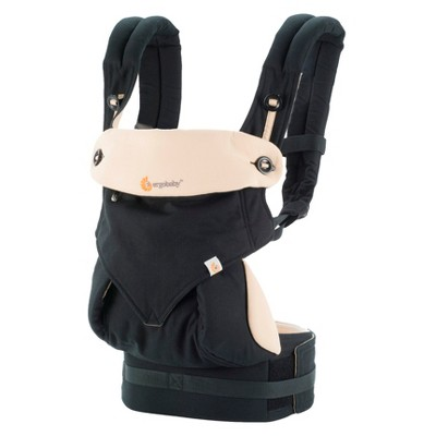 Ergobaby 360 All Carry Positions Ergonomic Baby Carrier - Black/Tan
