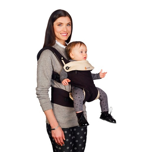 how to use ergo baby carrier on back