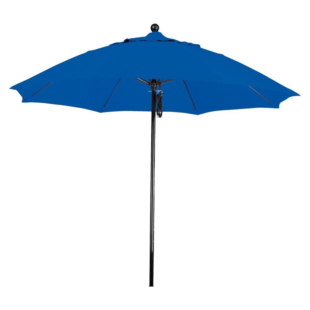 9' Aluminum Pulley Patio Umbrella - Blue Pacifica