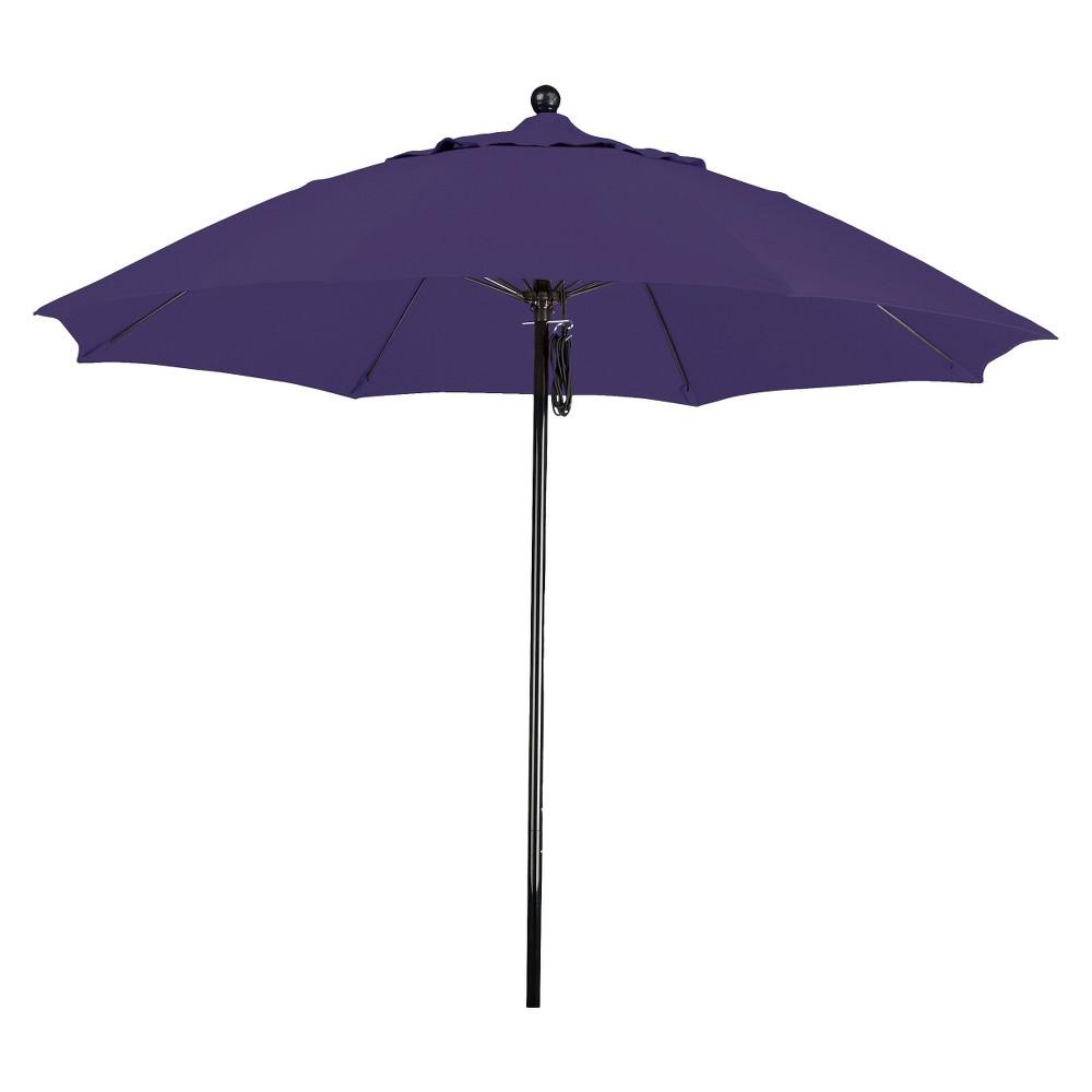 9' Aluminum Pulley Patio Umbrella - Purple Pacifica