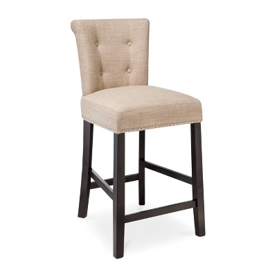 Scrollback With Nailhead Trim 24 Counter Stool Toast