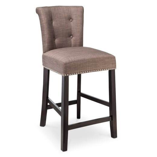 Scrollback With Nailhead Trim 24 Quot Counter Stool Dolphin