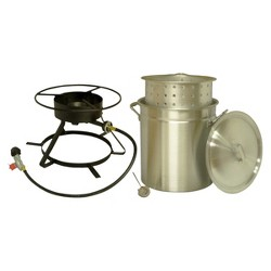 King Kooker® Portable Propane Outdoor Boil/Steam Cooker Package with 50-Qt Pot & Steaming Basket