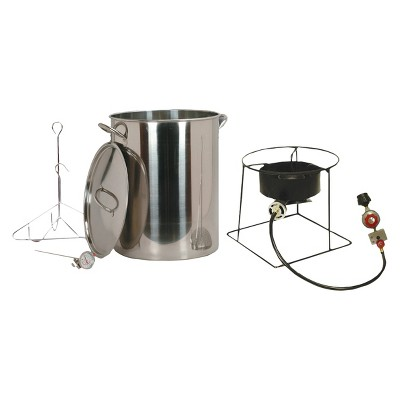 outdoor turkey fryer package with stainless steel pot - Outdoor Deep Fryer