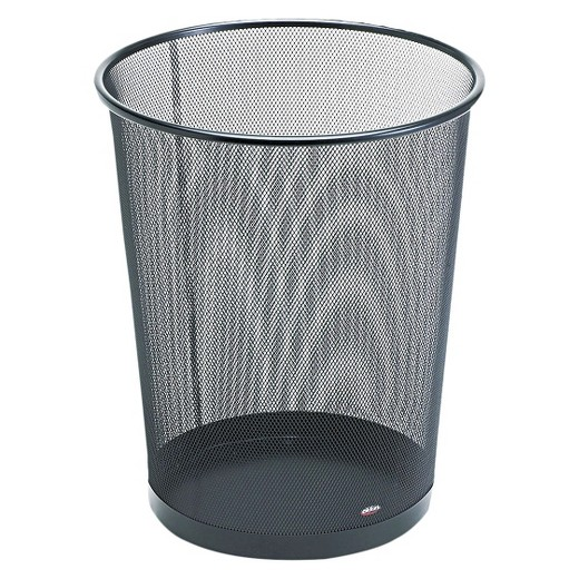 Wire Waste Paper Basket rolodex round wire mesh wastebasket - black : target