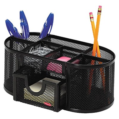 rolodex steel mesh pencil cup organizer with eight black