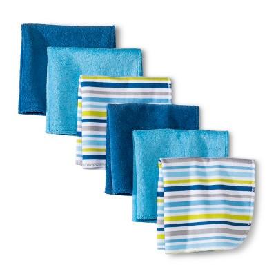Circo® Newborn Boys' 6 Pack Washcloth Set - Dark Blue