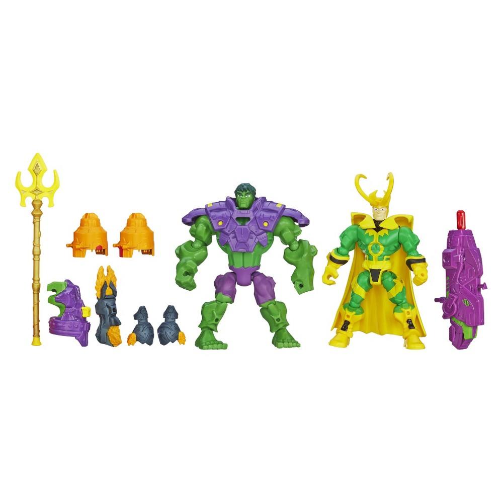Hasbro Avengers Super Hero Mashers Hulk Vs Loki Mash Pack
