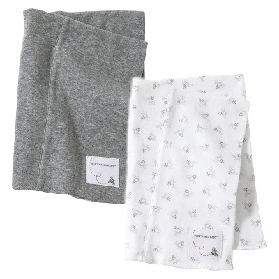 Burt s Bees Baby™ Newborn Heather Gray Infant Burp Cloth Set