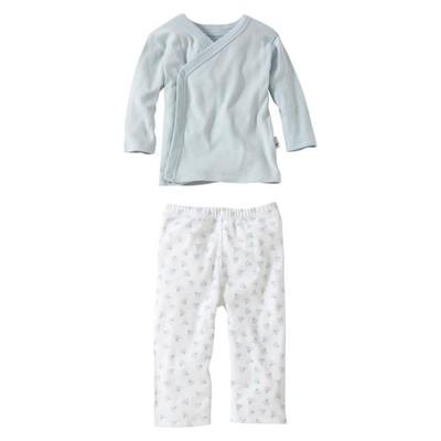 Burts Bees Baby™ Newborn Boys' 2 Piece Kimono Top and Bottom Set - Sky 0-3 M