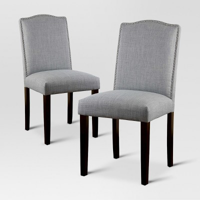 Camelot Nailhead Dining Chair - Dove Gray (Set of 2)- Threshold™