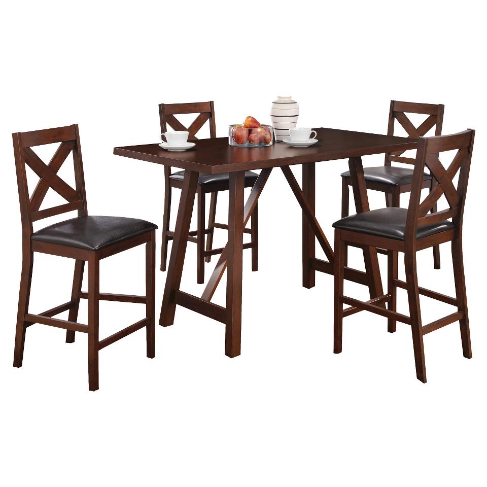 Dining Table Monarch Specialties Pub table   Mocha