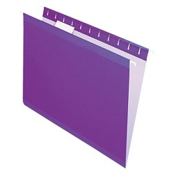 Pendaflex® Reinforced Hanging Folders with 1/5 Tab, Letter - Violet (25 Per Box)
