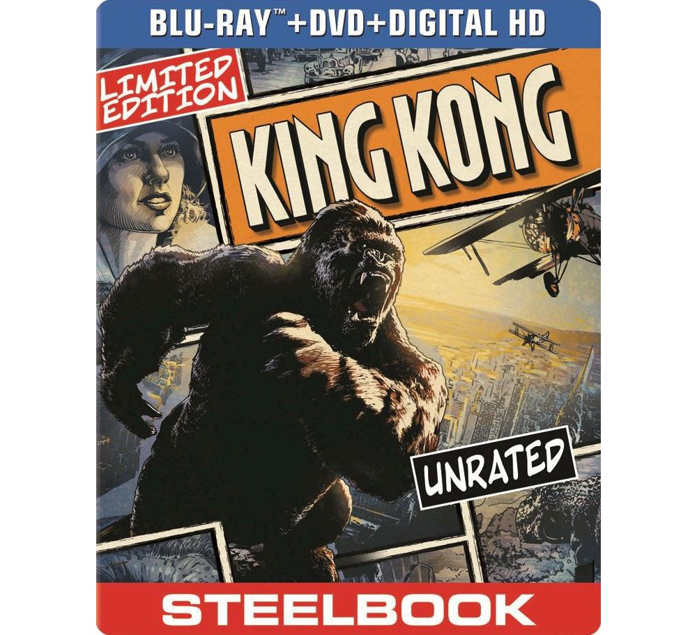King Kong (2 Discs) (Includes Digital Copy) (UltraViolet) (SteelBook) (Blu-ray/Dvd)