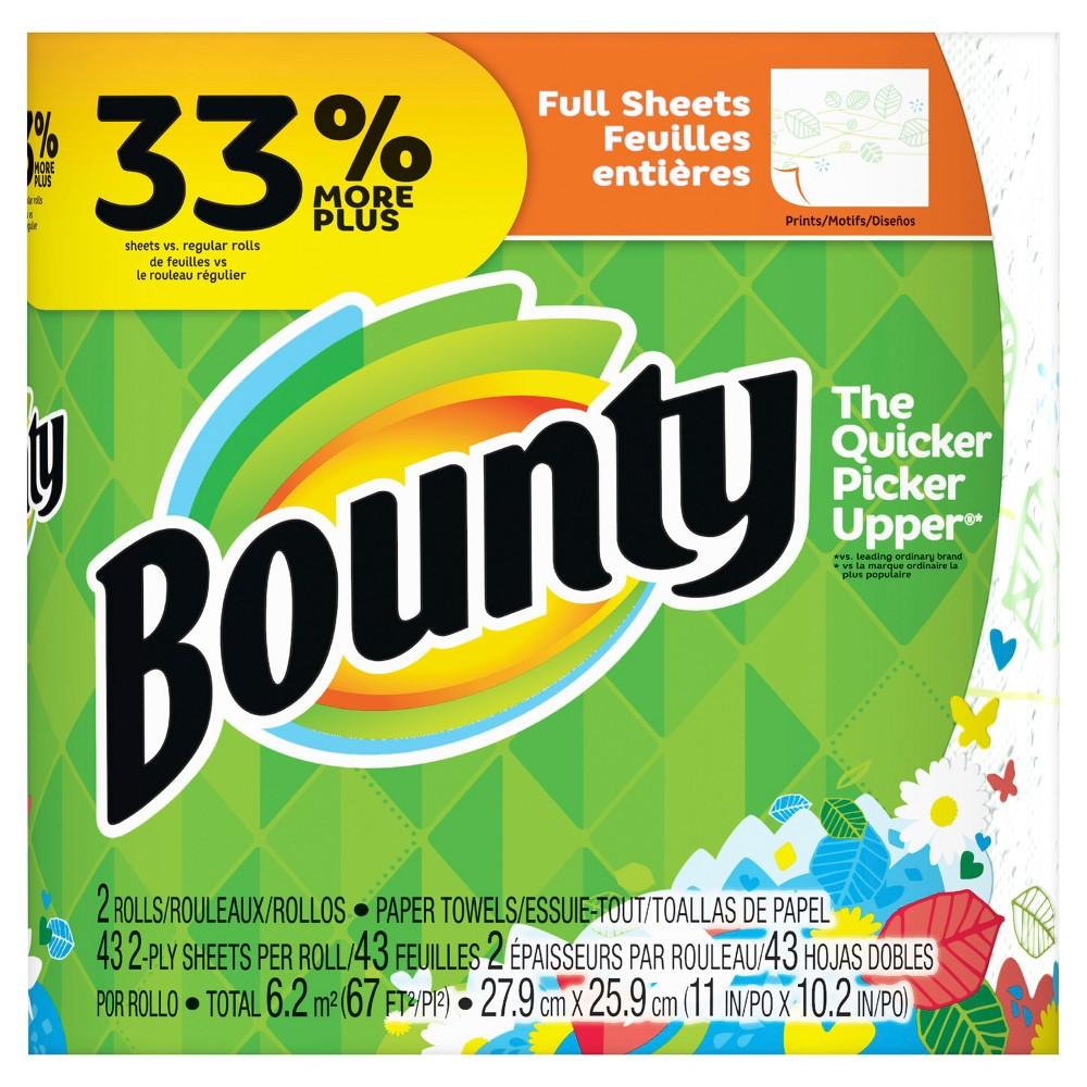 Bounty Paper Towels Fall Prints: 037000950189 UPC - Bounty