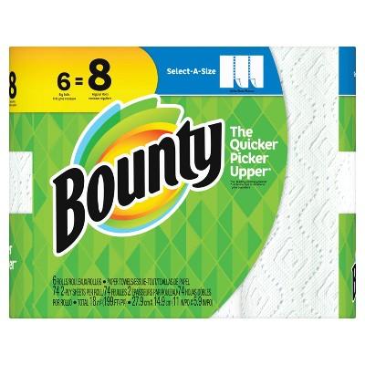 Bounty Select-a-Size Paper Towels - 6 Big Rolls