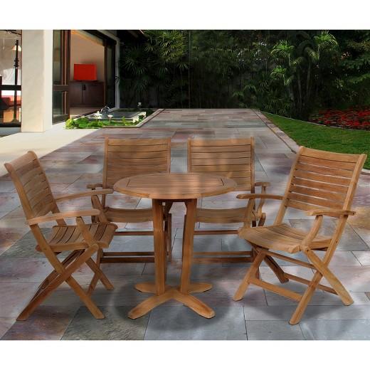 loved ... - Monroe 5-Piece Teak Patio Bistro Furniture Set : Target